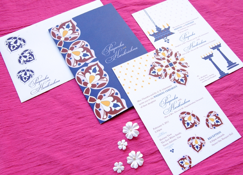 Indian Wedding Invitations Modern Letterpresses