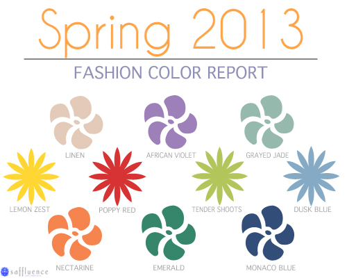 Find out what colors are trending this season in the Spring 2013 fashion color report.