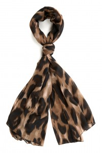 Brown And Black Leopard Print Scarf