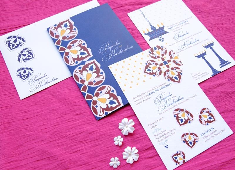 Indian Wedding Invitations Modern Letterpresses